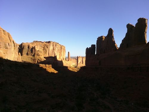 Image of Park Avenue, Arches National Park, Utah